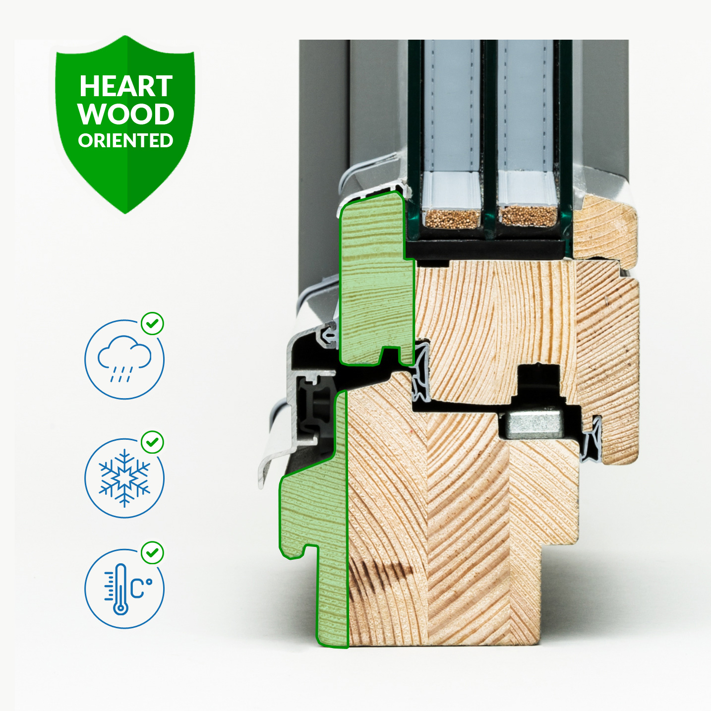Kantówki HEART WOOD ORIENTED